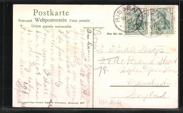 AK Hamburg-Wittenbergen, Gasthof Landhaus Sommerfrische von Gustav Herbers 1
