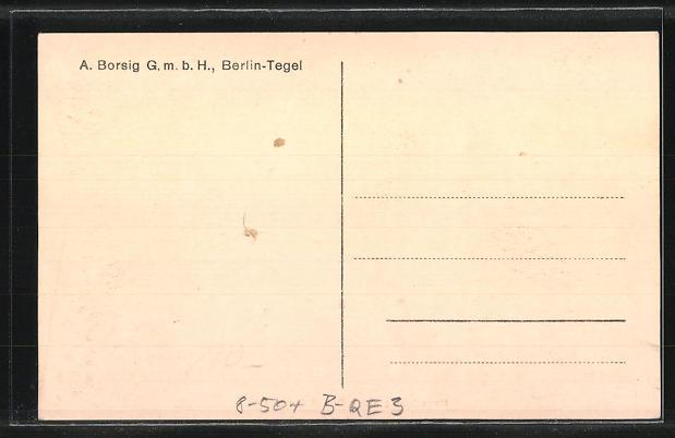 AK Berlin-Tegel, A. Borsig GmbH, Fabrikarbeiter bei der Herstellung eines 70 t-Gussstückes 1