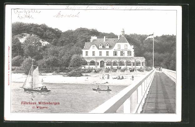 AK Hamburg-Wittenbergen, Gasthof Fährhaus Wittenbergen von J. Wiggers