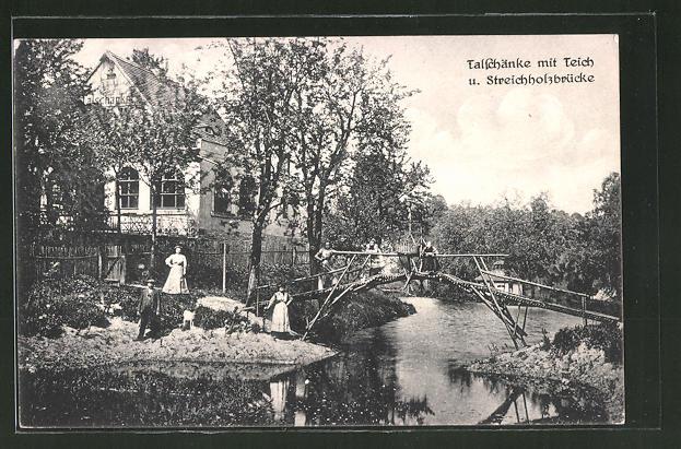 AK Possendorf, Gasthaus Talschänke mit Teich Nr. 7683285 - oldthing ...
