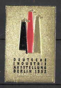 Präge-Reklamemarke Berlin, deutsche Industrie-Ausstellung 1952, Messelogo