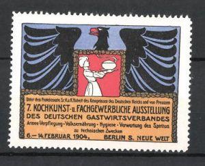Reklamemarke Berlin, 7. Kochkunst-und fachgewerbliche Ausstellung 1904, Wappen