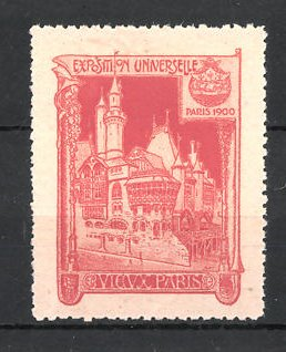 Reklamemarke Paris, Exposition Universelle 1900, vieux Paris