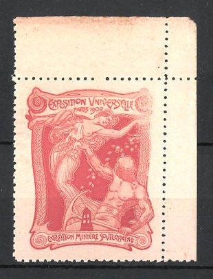 Reklamemarke Paris, Exposition Universelle 1900, Exposition Miniere Souterraine