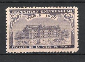Reklamemarke Paris, Exposition Universelle 1900, Pavillon de la Ville de Paris