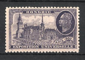 Reklamemarke Paris, Exposition Universelle 1900, Hongorie