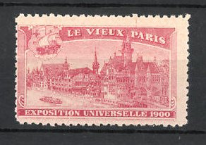 Reklamemarke Paris, Exposition Universelle 1900, le vieux Paris