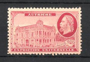 Reklamemarke Paris, Exposition Universelle 1900, Autriche