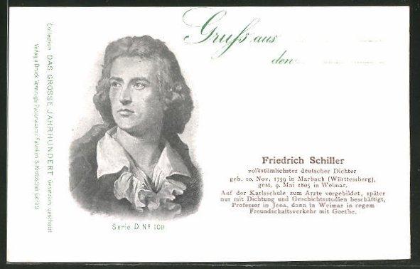 AK Serie: Das grosse Jahrhundert, Porträt von Friedrich Schiller