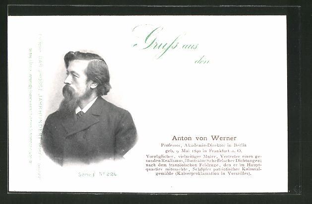 AK Serie: Das grosse Jahrhundert, Porträt von Anton von Werner