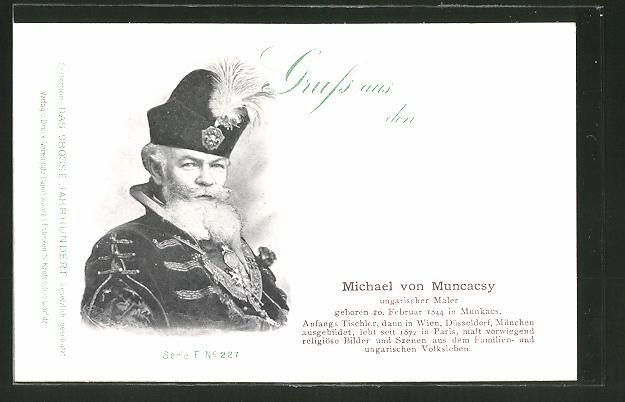 AK Serie: Das grosse Jahrhundert, Porträt von Michael von Muncacsy