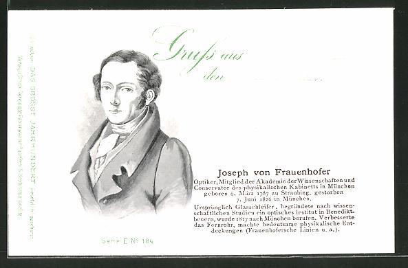 AK Serie: Das grosse Jahrhundert, Porträt von Joseph von Frauenhofer