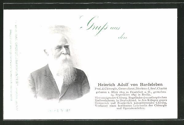 AK Serie: Das grosse Jahrhundert, Porträt von Heinrich Adolf von Bardeleben