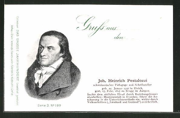 AK Serie: Das grosse Jahrhundert, Porträt von Johann Heinrich Pestalozzi
