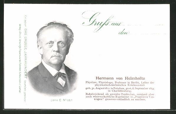 AK Serie: Das grosse Jahrhundert, Porträt von Hermann von Helmholtz