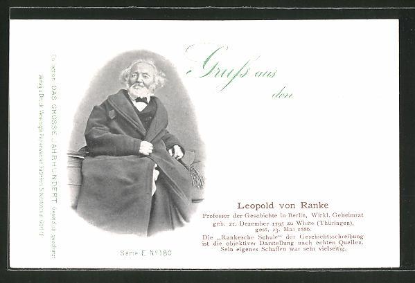 AK Serie: Das grosse Jahrhundert, Porträt von Leopold von Ranke