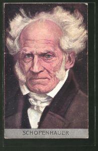AK Arthur Schopenhauer, Kopfportrait