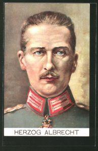 Künstler-AK Porträt Herzog Albrecht von Württemberg