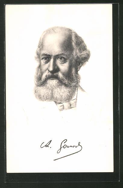 Künstler-AK Portrait des Komponisten Charles Gounod