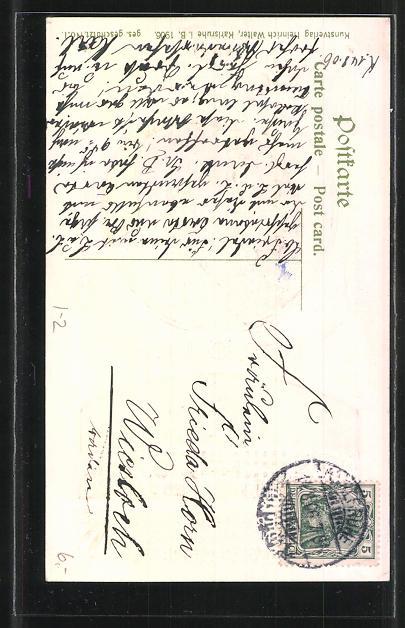 Präge Ak Grossherzog Friedrich Von Baden Und Gemahlin