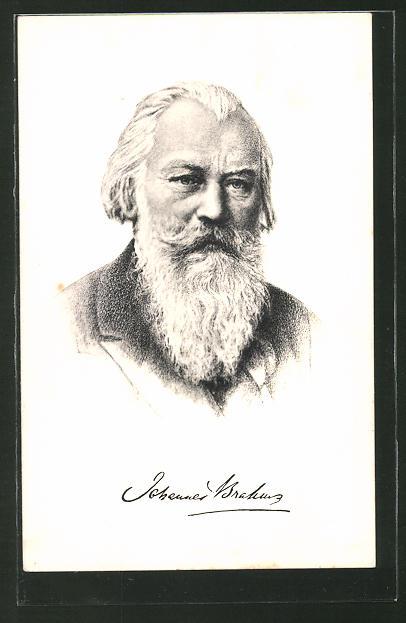 Künstler-AK Dr. Johannes Brahms, deutscher Komponist