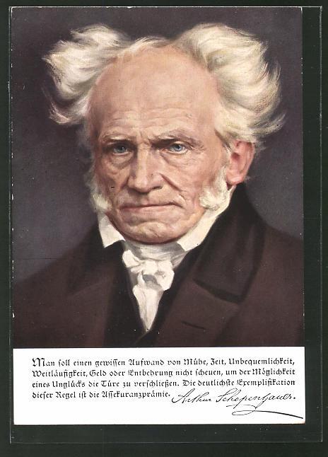 AK Deutsche Männer - deutsche Worte, Portrait des Philosophen Schopenhauer