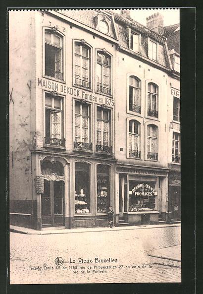 AK Brüssel / Bruxelles, Facade Louis XV de 1763 rue de l'Imperatrice 23 au coin de la rue de la Putterie