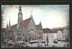 AK Breslau, Rathaus mit Ring