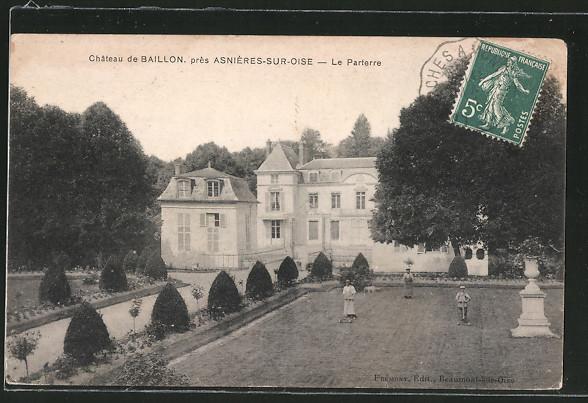 AK Asniéres-sur-Oise, Château de Baillon
