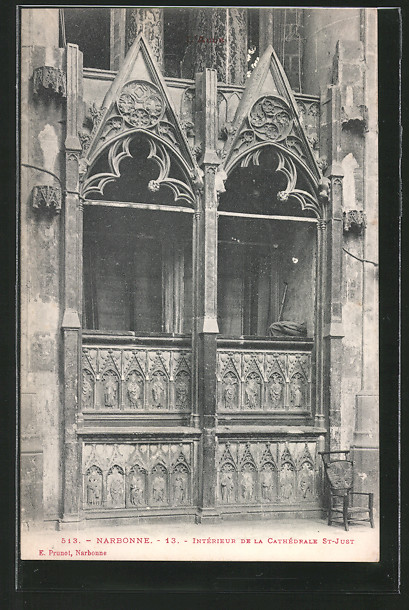 AK Narbonne, l'intérieur de la cathédrale Saint-Just