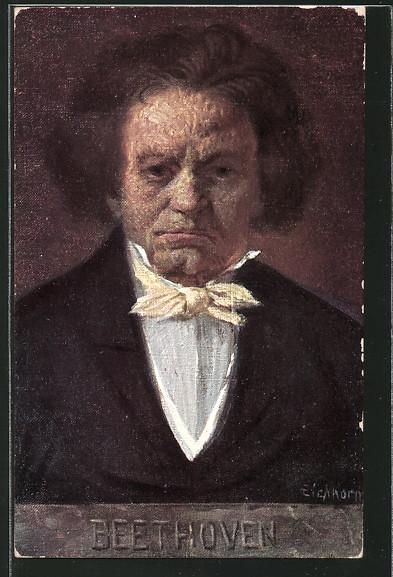 Künstler-AK Porträt von Beethoven