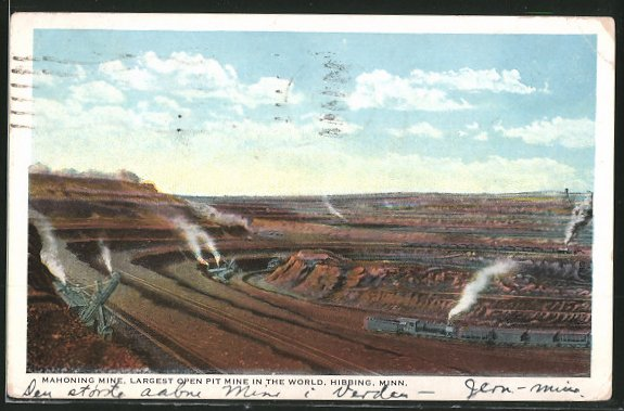 AK Hibbing, MN, Mahoning Mine, Largest Open Pit Mine In The World, Erzabbau