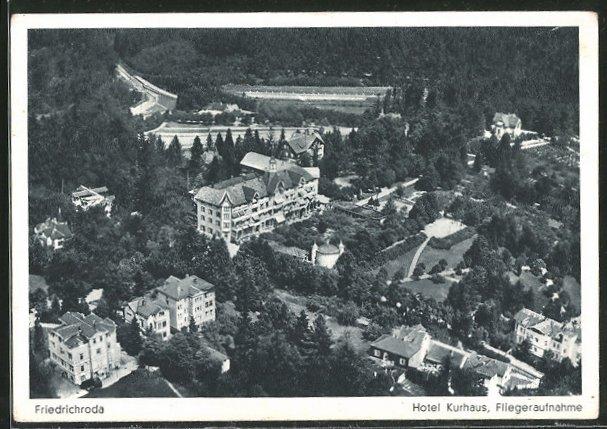 AK Bad Friedrichroda, Hotel Kurhaus, Fliegeraufnahme
