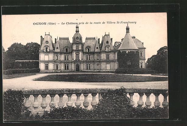 AK Ognon, le château pris de la route de Villers-Saint-Frambourg