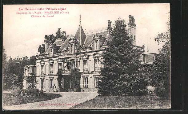 AK Beaulieu, le château du Breuil, vu du jardin