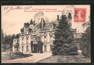 AK Breuil, le château, vu du jardin