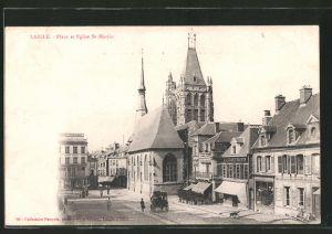 AK Laigle, place et l'église Saint-Martin