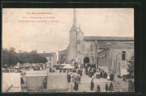 AK Pibrac, pélerinage de Pibrac, l' arrivée d' un pélerinage a l' église