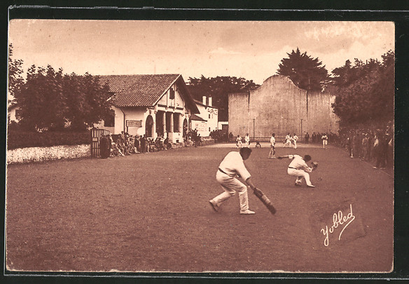 AK Pays Basque, Sportler bei einem Pelote-Spiel