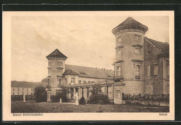 AK Rheinsberg, Schloss mit Parkpartie