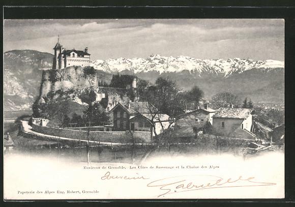 AK Sassenage, les Côtes de Sassenage et la chaine des Alpes