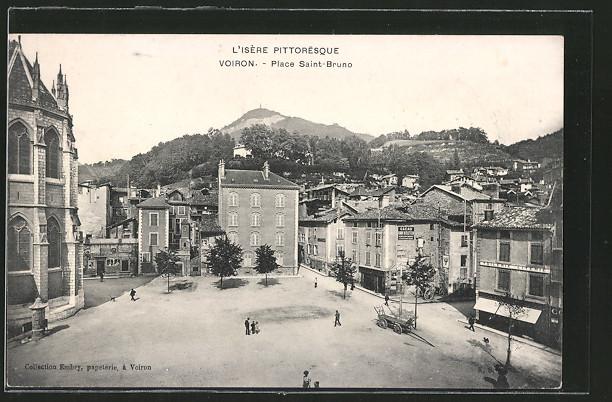AK Voiron, place Saint-Bruno