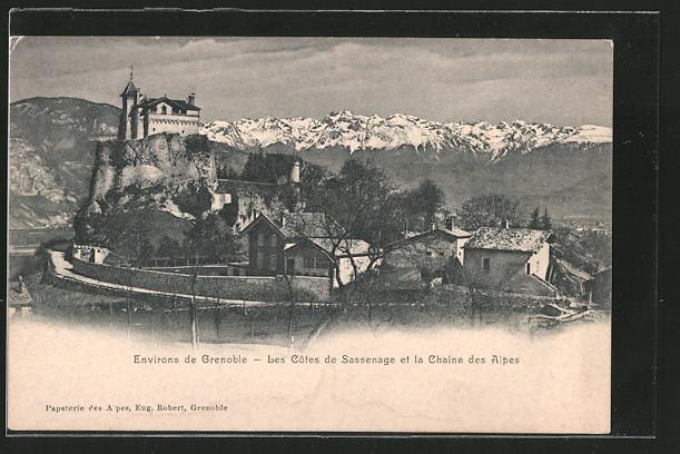 AK Sassenage, les côtes et la chaine des Alpes