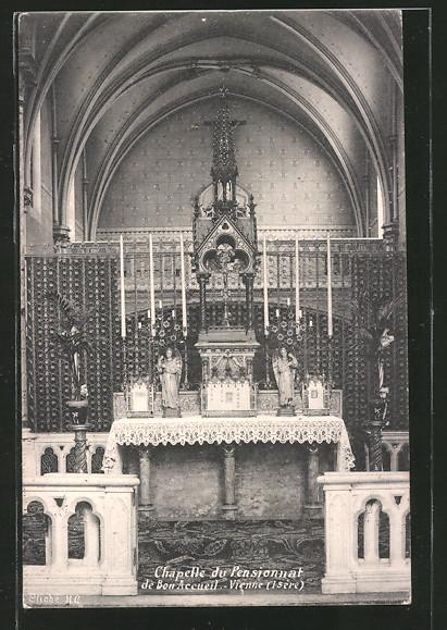 AK Vienne, la chapelle du pensionnat de Bon Accueil, vue de l'autel