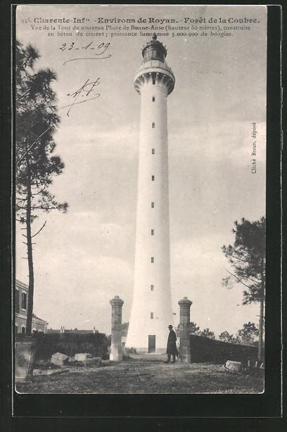 AK Coubre, vue de la tour du nouveau Phare de Bonne-Anse, Leuchtturm