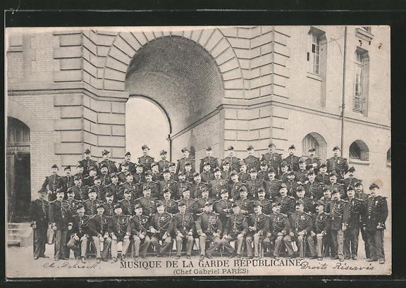 AK Musique de la Garde Republicaine, französisches Militärorchester, Chef: Gabriel Pares