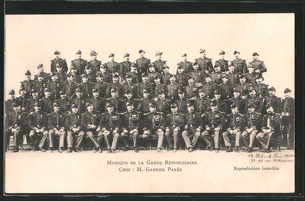 AK Musique de la Garde Republicaine, französisches Militärorchester, Chef: M. Gabriel Pares