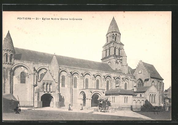 AK Poitiers, église Notre-Dame-la-Grande