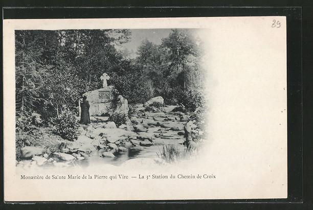 AK Pierre-qui-Vire, monastère de Sainte-Marie, la 3. station du chemin de croix