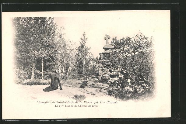 AK Pierre-qui-Vire, monastère de Sainte-Marie, la 13. station du chemin de croix